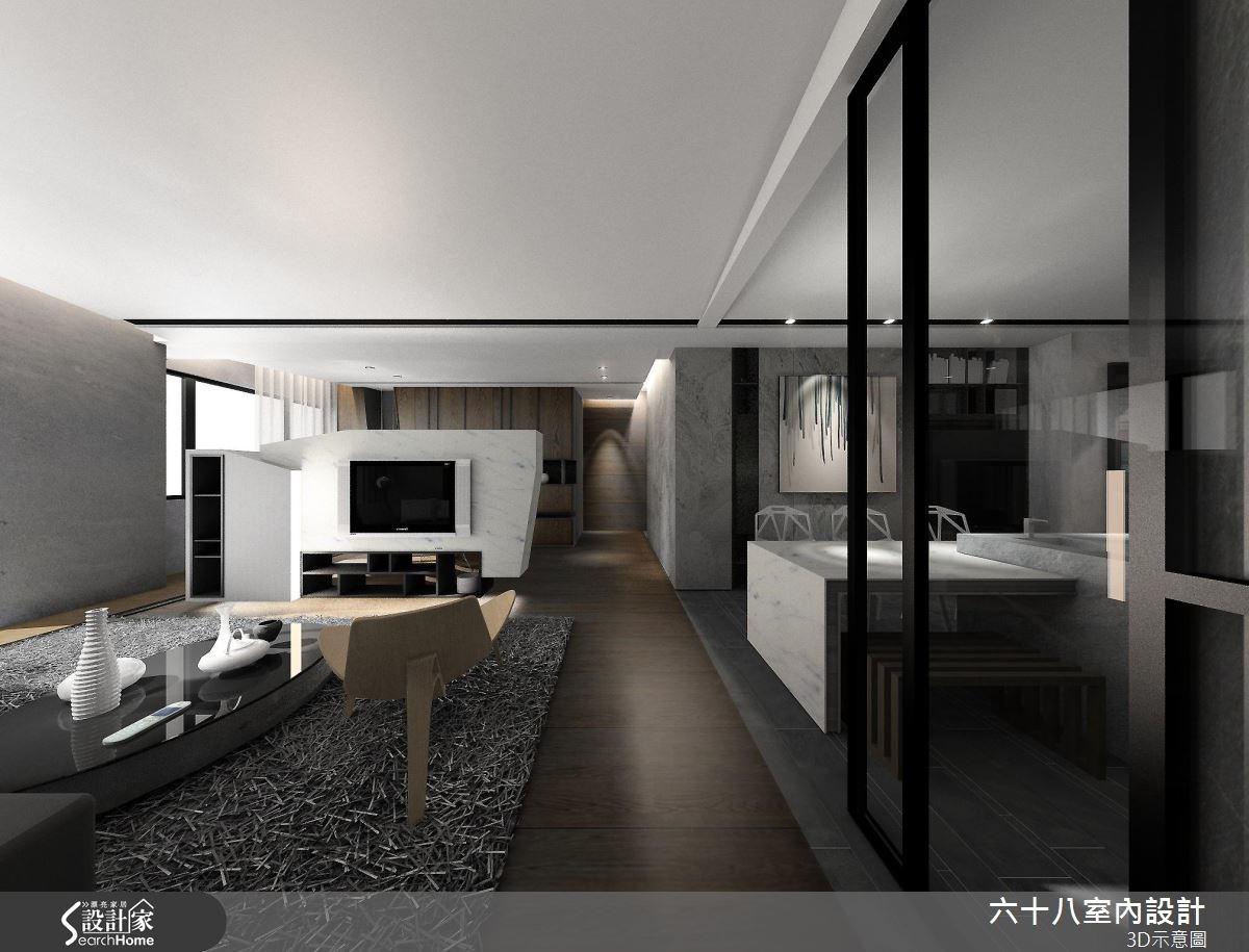 42坪新成屋(5年以下)_混搭風案例圖片_六十八室內設計有限公司_六十八_14之2