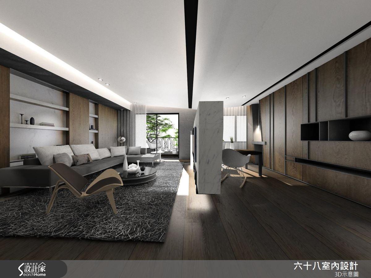 42坪新成屋(5年以下)_混搭風案例圖片_六十八室內設計有限公司_六十八_14之3