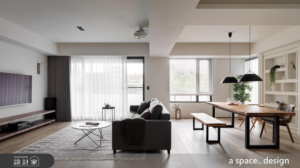 45坪新成屋(5年以下)_現代風客廳書房案例圖片_a space..design/一個空間設計_a space.._24之5