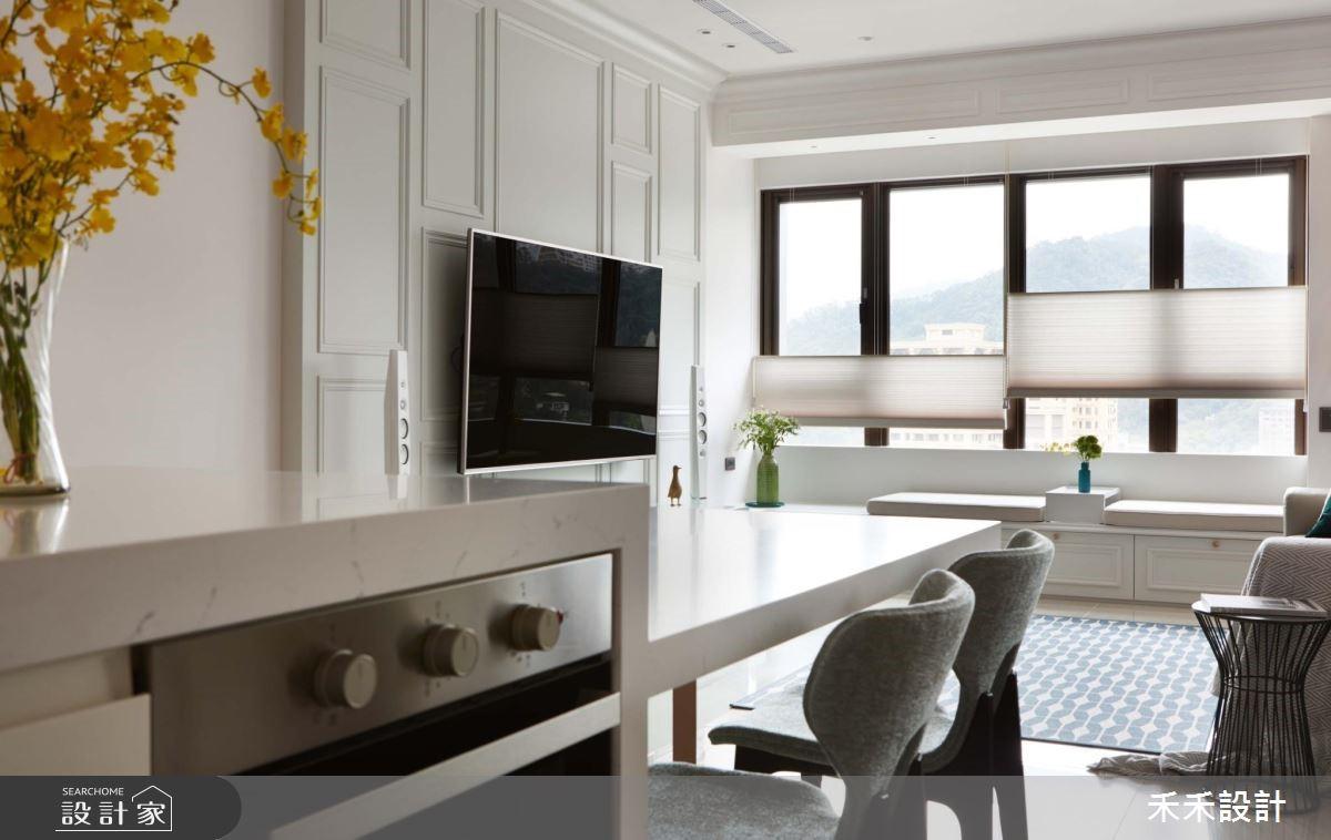 29坪新成屋(5年以下)_新古典客廳餐廳臥榻案例圖片_禾禾設計_禾禾_16之4