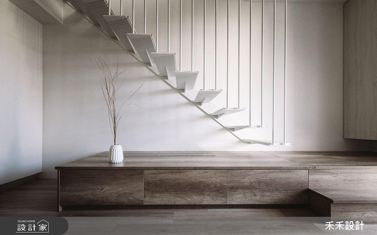 25坪老屋(41~50年)_混搭風客廳樓梯案例圖片_禾禾設計_禾禾_24之2
