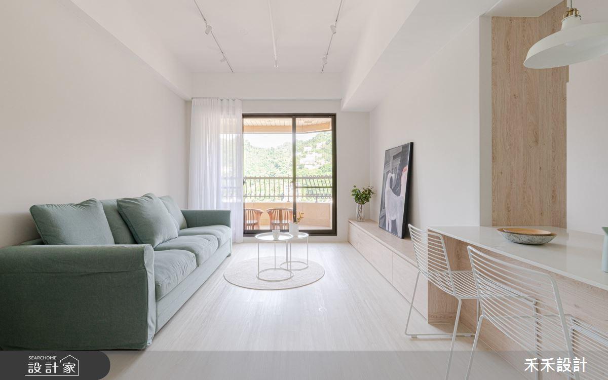 25坪新成屋(5年以下)_混搭風客廳案例圖片_禾禾設計_禾禾_25之3