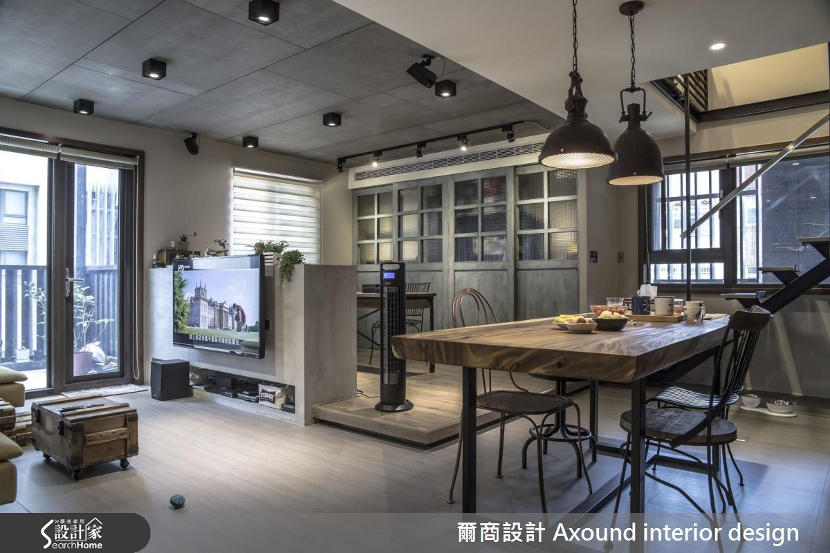 35坪新成屋(5年以下)_工業風案例圖片_爾商設計 Axound interior design_爾商_01之3