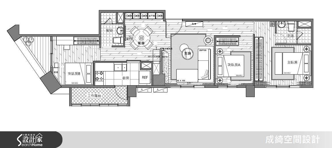 44坪新成屋(5年以下)_現代風案例圖片_成綺空間設計有限公司_成綺_06之7