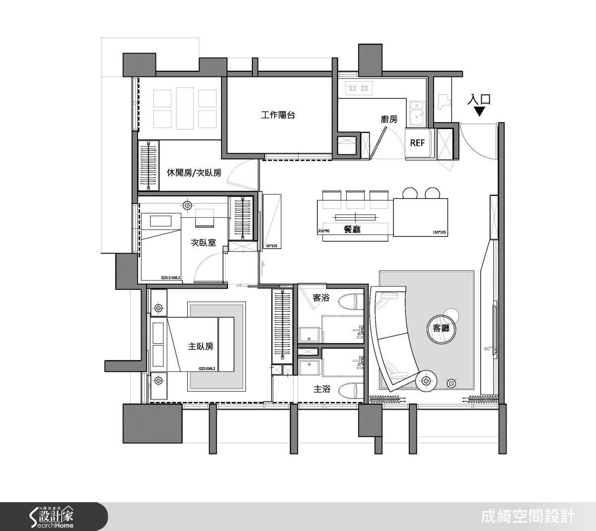 45坪新成屋(5年以下)_現代風案例圖片_成綺空間設計有限公司_成綺_07之17