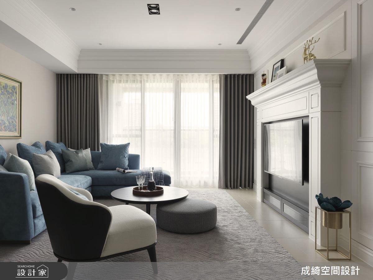 62坪新成屋(5年以下)_新古典客廳案例圖片_成綺空間設計有限公司_成綺_10之3