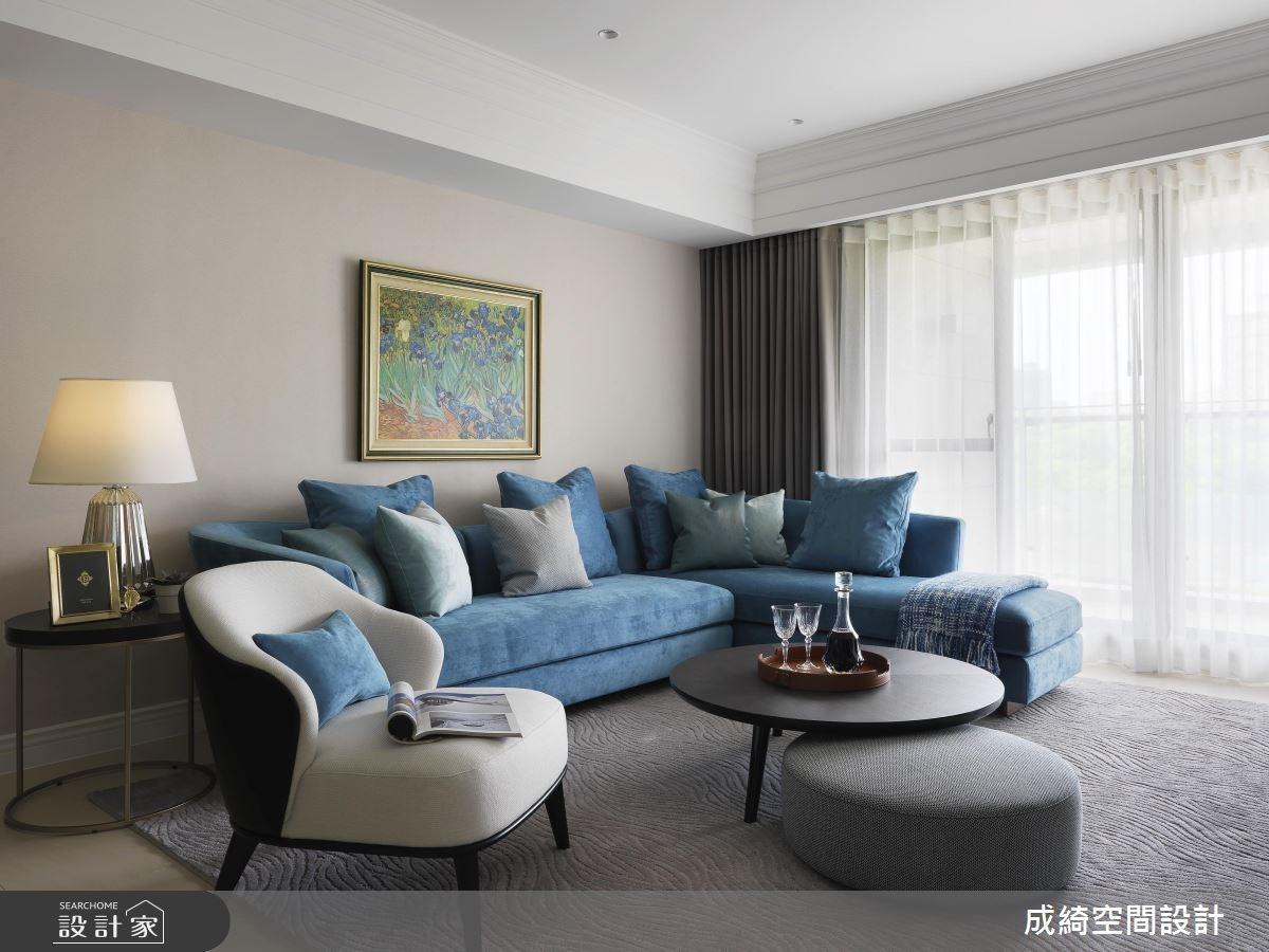 62坪新成屋(5年以下)_新古典客廳案例圖片_成綺空間設計有限公司_成綺_10之4