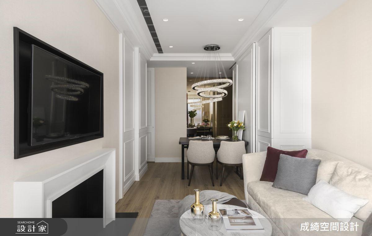 26坪新成屋(5年以下)_新古典客廳案例圖片_成綺空間設計有限公司_成綺_11之4