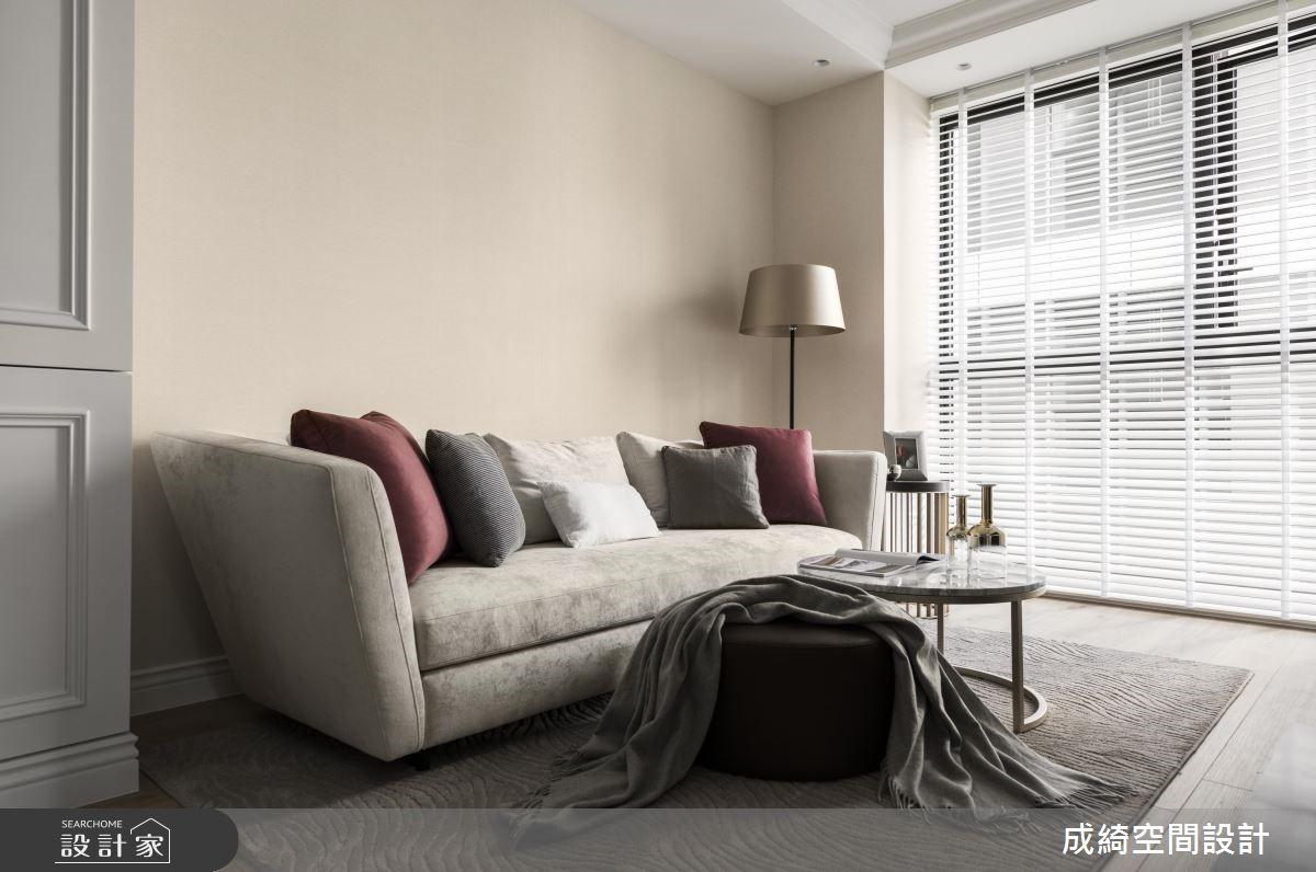 26坪新成屋(5年以下)_新古典客廳案例圖片_成綺空間設計有限公司_成綺_11之3