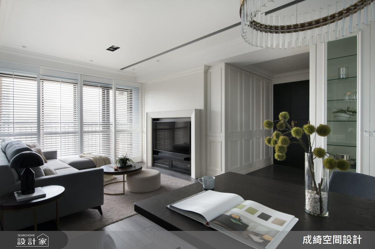 42坪新成屋(5年以下)_美式風客廳案例圖片_成綺空間設計有限公司_成綺_13之2