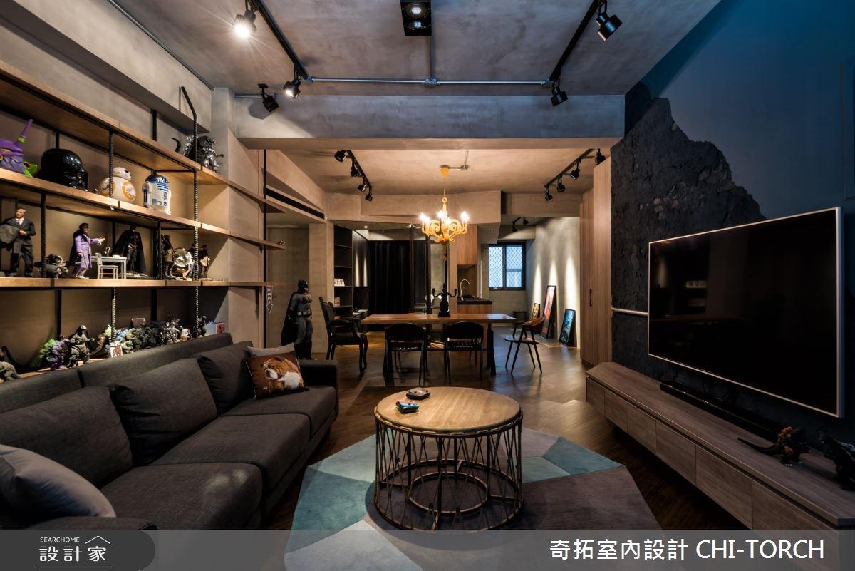 26坪老屋(16~30年)_工業風客廳案例圖片_奇拓室內設計 CHI-TORCH_奇拓_16之2