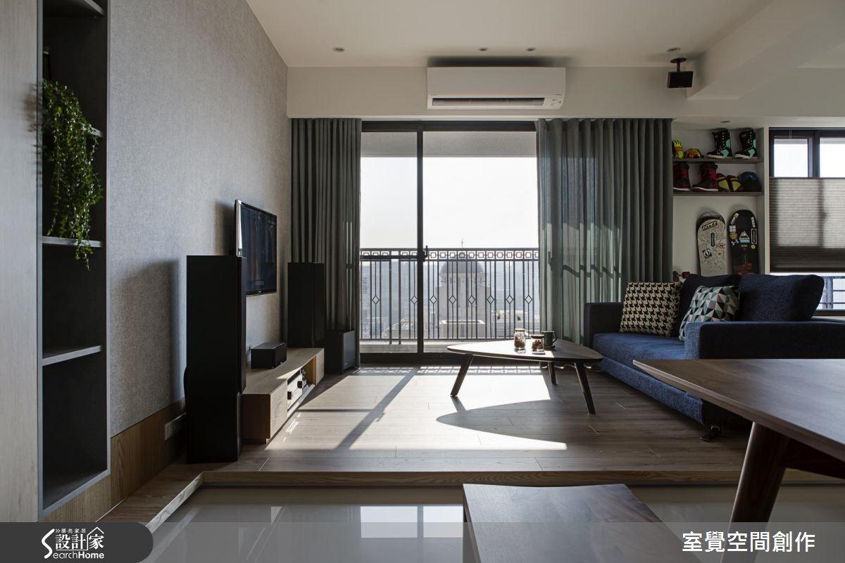 20坪新成屋(5年以下)_混搭風客廳案例圖片_室覺空間創作_室覺_10之3