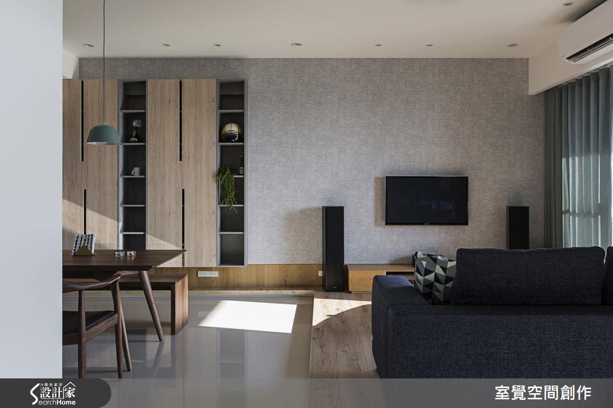 20坪新成屋(5年以下)_混搭風客廳案例圖片_室覺空間創作_室覺_10之4