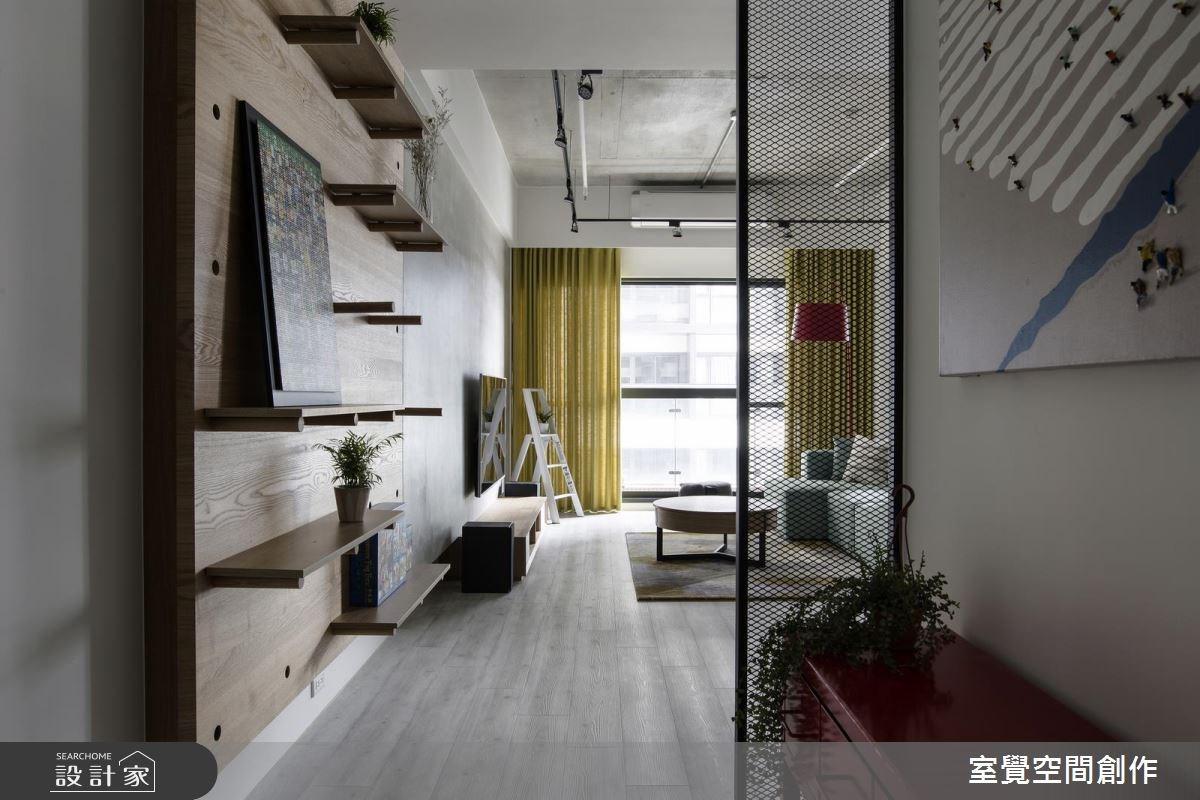 25坪新成屋(5年以下)_混搭風玄關案例圖片_室覺空間創作_室覺_13之1