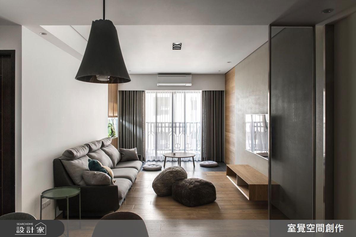 17坪新成屋(5年以下)_簡約風客廳案例圖片_室覺空間創作_室覺_19之3