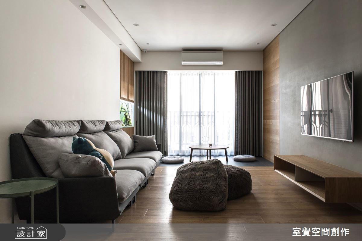 17坪新成屋(5年以下)_簡約風客廳案例圖片_室覺空間創作_室覺_19之8