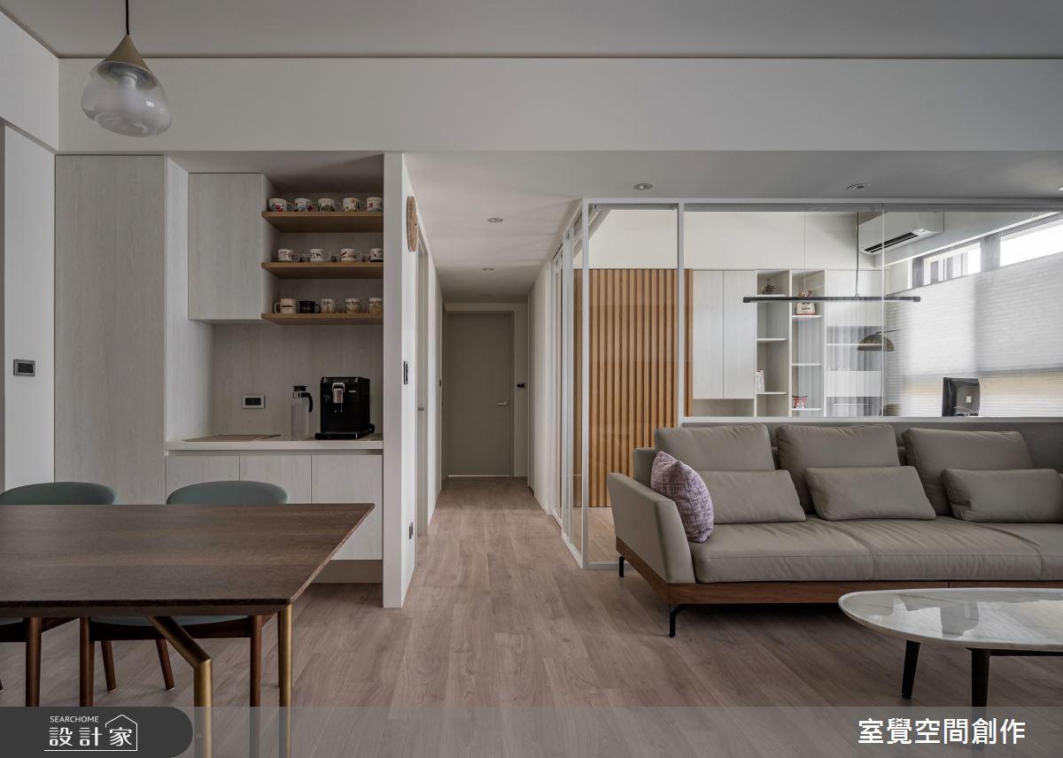 25坪新成屋(5年以下)_日式無印風客廳餐廳案例圖片_室覺空間創作_室覺_36之3
