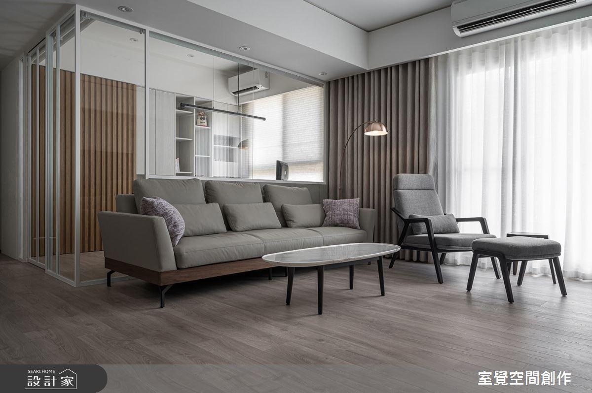 25坪新成屋(5年以下)_日式無印風客廳案例圖片_室覺空間創作_室覺_36之2