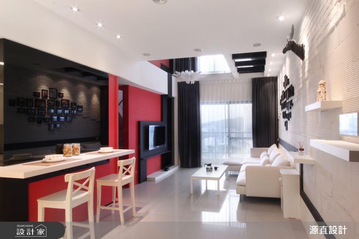 35坪新成屋(5年以下)_混搭風客廳餐廳案例圖片_源直聯合設計事務所_源直_13之4