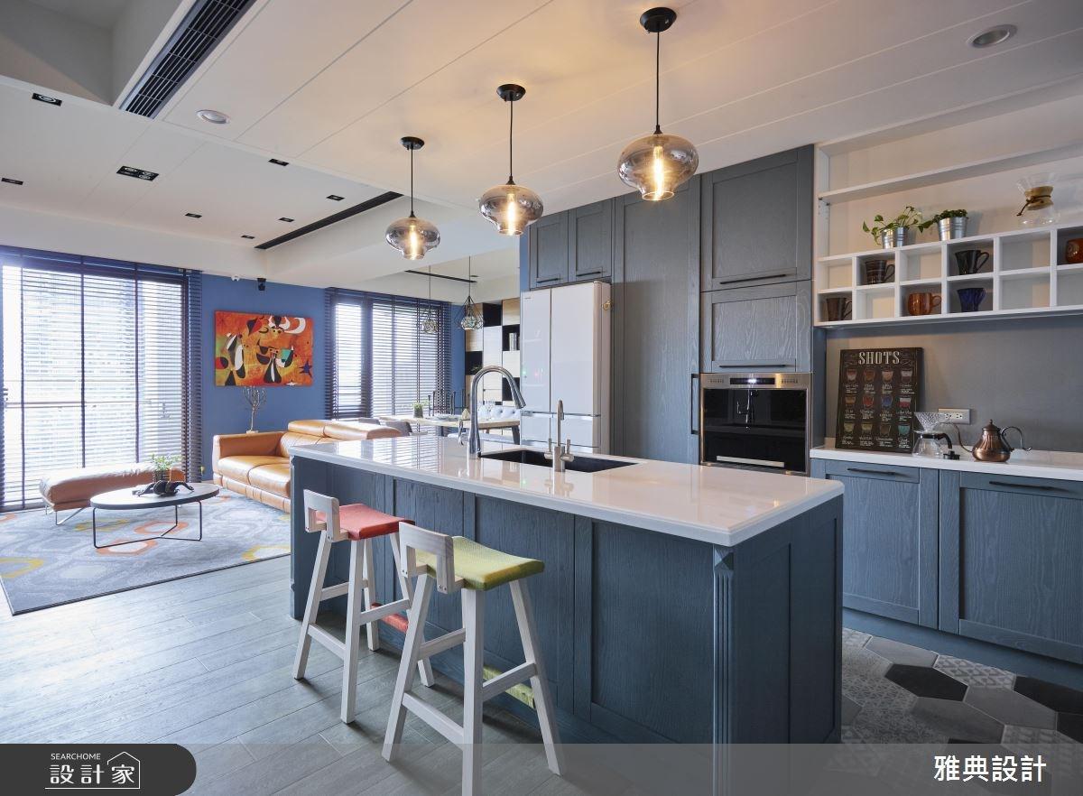 43坪新成屋(5年以下)_工業風客廳廚房吧檯案例圖片_雅典設計工程有限公司_雅典_34之3