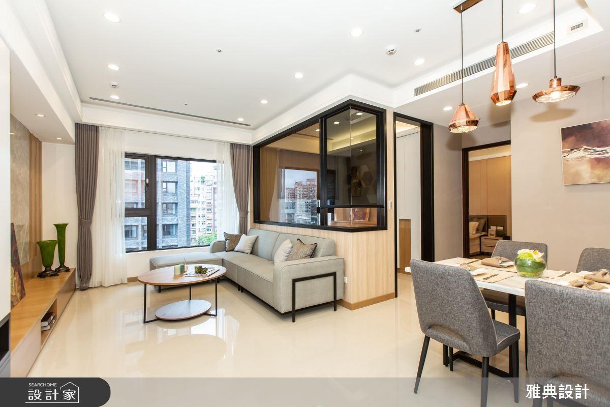 46坪新成屋(5年以下)_簡約風客廳餐廳案例圖片_雅典設計工程有限公司_雅典_36之1