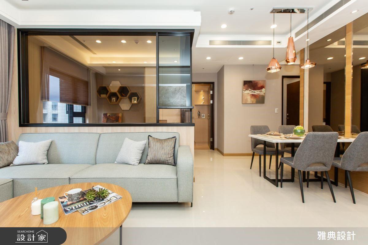 46坪新成屋(5年以下)_簡約風客廳餐廳案例圖片_雅典設計工程有限公司_雅典_36之2