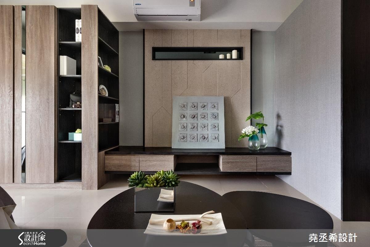 10坪新成屋(5年以下)_現代風客廳案例圖片_堯丞希設計_堯丞希_10之4