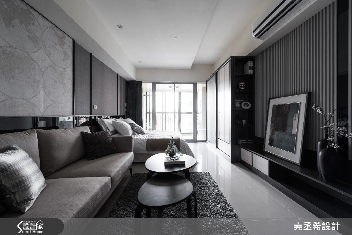 10坪新成屋(5年以下)_現代風客廳案例圖片_堯丞希設計_堯丞希_11之3