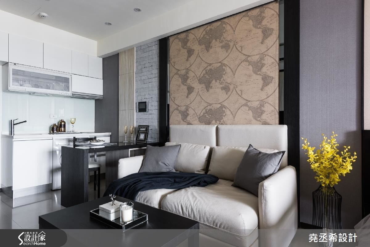 10坪新成屋(5年以下)_現代風客廳廚房案例圖片_堯丞希設計_堯丞希_12之4