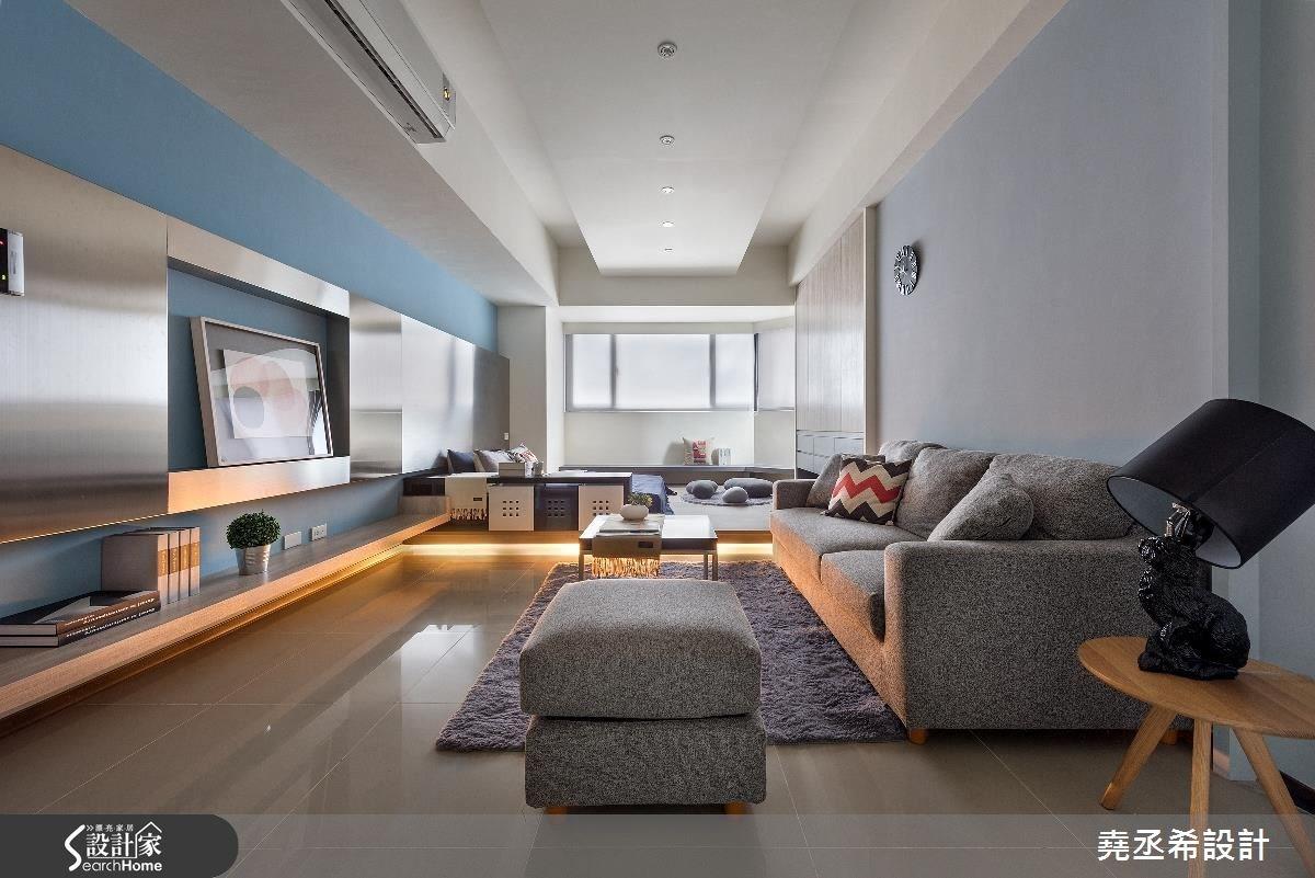 13坪新成屋(5年以下)_現代風客廳案例圖片_堯丞希設計_堯丞希_13之1