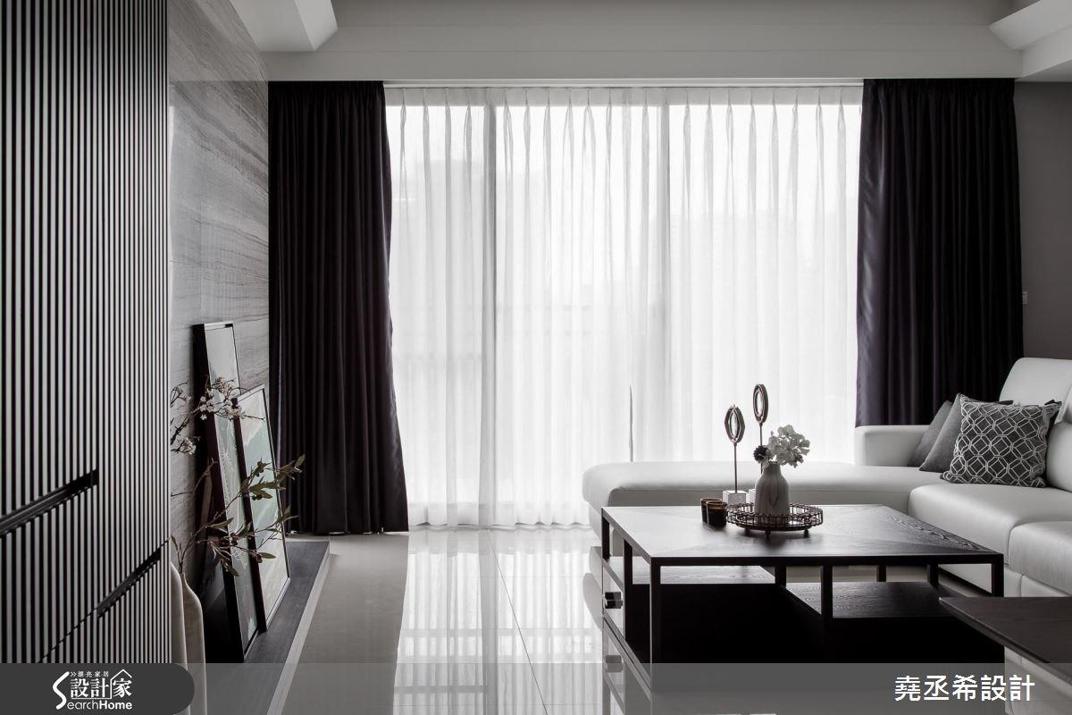 45坪新成屋(5年以下)_混搭風客廳案例圖片_堯丞希設計_堯丞希_15之3