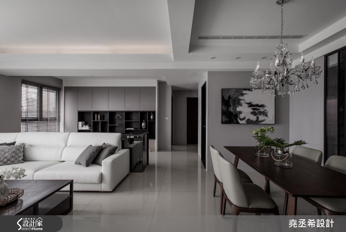 45坪新成屋(5年以下)_混搭風客廳案例圖片_堯丞希設計_堯丞希_15之5