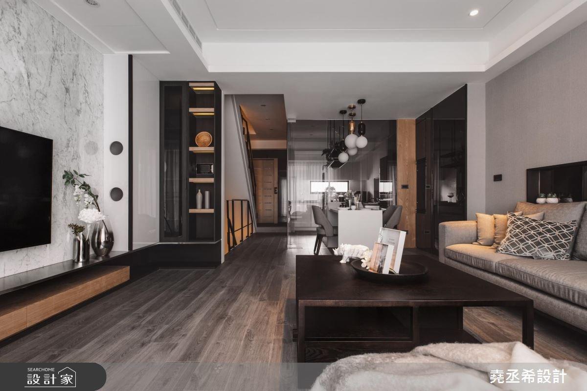 80坪新成屋(5年以下)_現代風客廳案例圖片_堯丞希設計_堯丞希_17之1