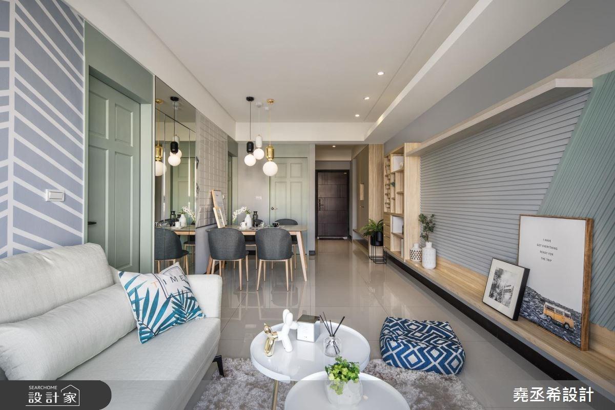 20坪新成屋(5年以下)_北歐風客廳案例圖片_堯丞希設計_堯丞希_25之8