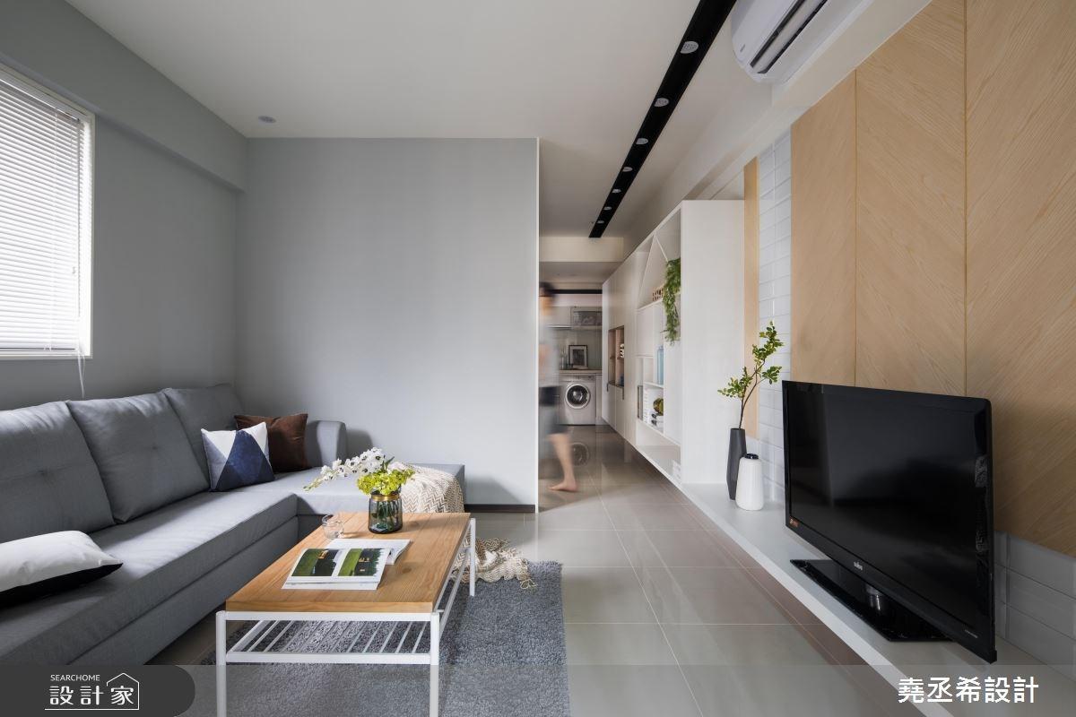 17坪新成屋(5年以下)_北歐風客廳案例圖片_堯丞希設計_堯丞希_27之2