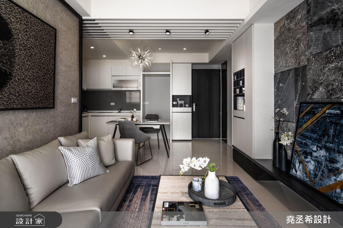 20坪新成屋(5年以下)_現代風客廳案例圖片_堯丞希設計_堯丞希_30之7
