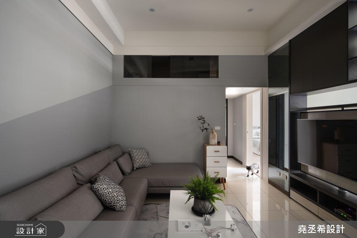 20坪新成屋(5年以下)_現代風客廳案例圖片_堯丞希設計_堯丞希_33之3