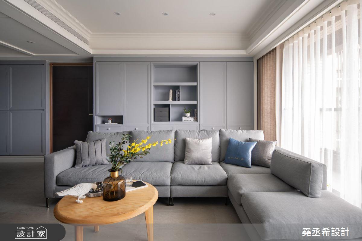 37坪新成屋(5年以下)_新古典客廳案例圖片_堯丞希設計_堯丞希_39之4