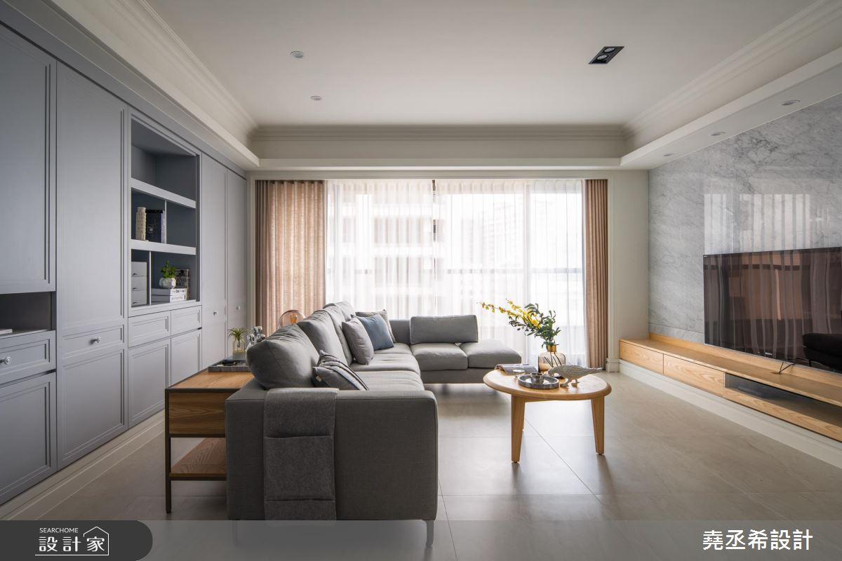 37坪新成屋(5年以下)_新古典客廳案例圖片_堯丞希設計_堯丞希_39之2