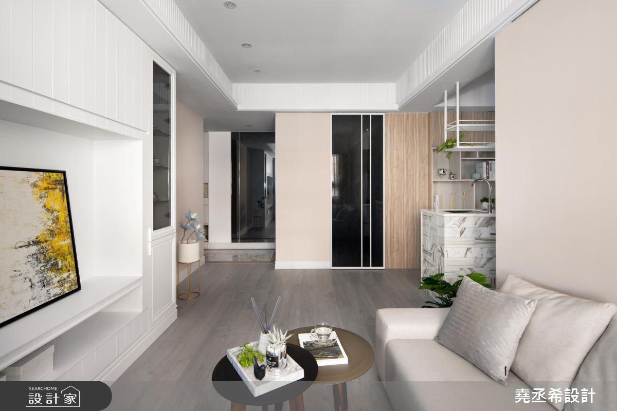 20坪新成屋(5年以下)_新古典客廳案例圖片_堯丞希設計_堯丞希_43之2