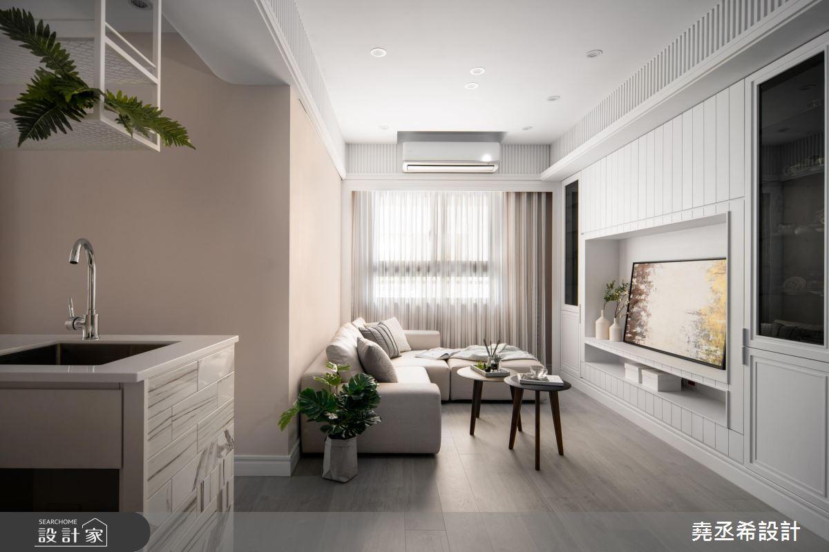 20坪新成屋(5年以下)_新古典客廳案例圖片_堯丞希設計_堯丞希_43之5