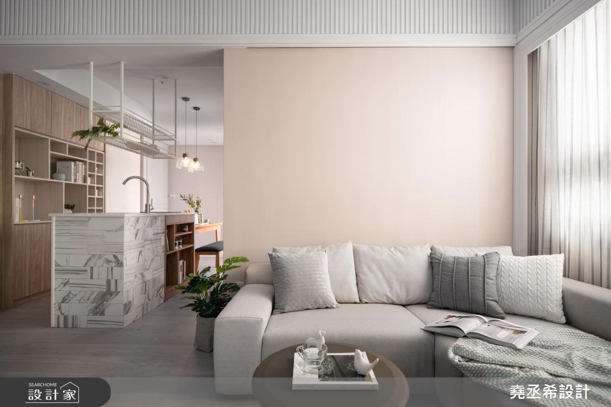 20坪新成屋(5年以下)_新古典客廳案例圖片_堯丞希設計_堯丞希_43之6