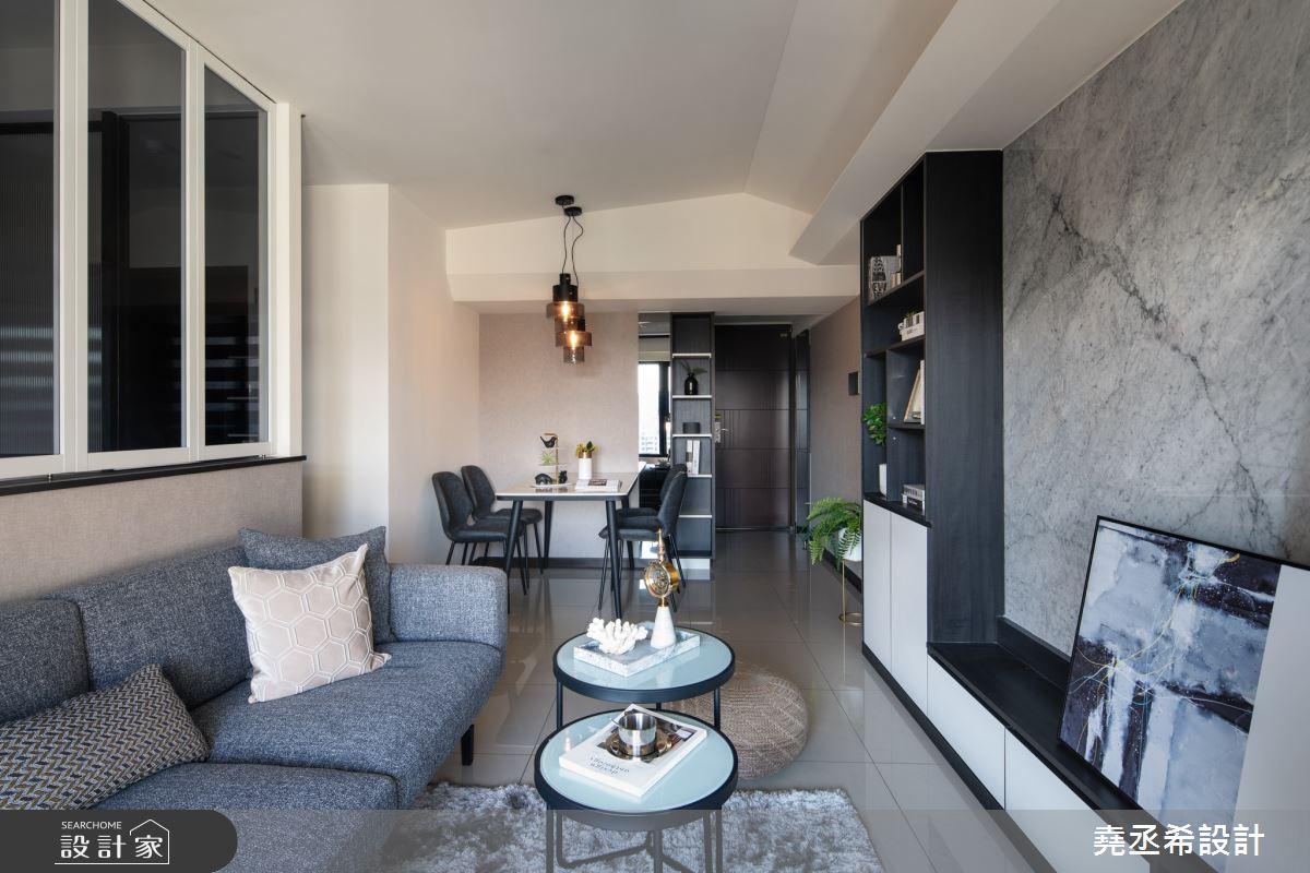 16坪新成屋(5年以下)_現代風客廳案例圖片_堯丞希設計_堯丞希_44之4
