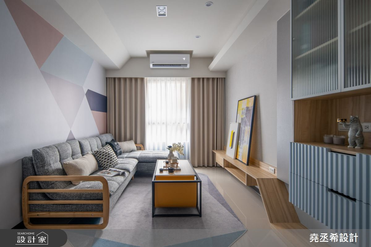 24坪新成屋(5年以下)_北歐風客廳案例圖片_堯丞希設計_堯丞希_50之5