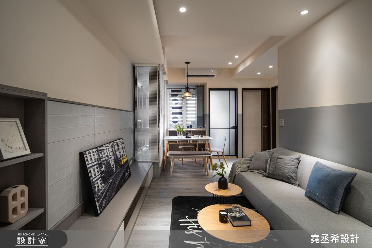13坪新成屋(5年以下)_現代風客廳案例圖片_堯丞希設計_堯丞希_51之2