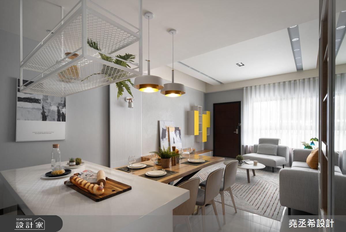 50坪新成屋(5年以下)_北歐風客廳餐廳吧檯案例圖片_堯丞希設計_堯丞希_56之4