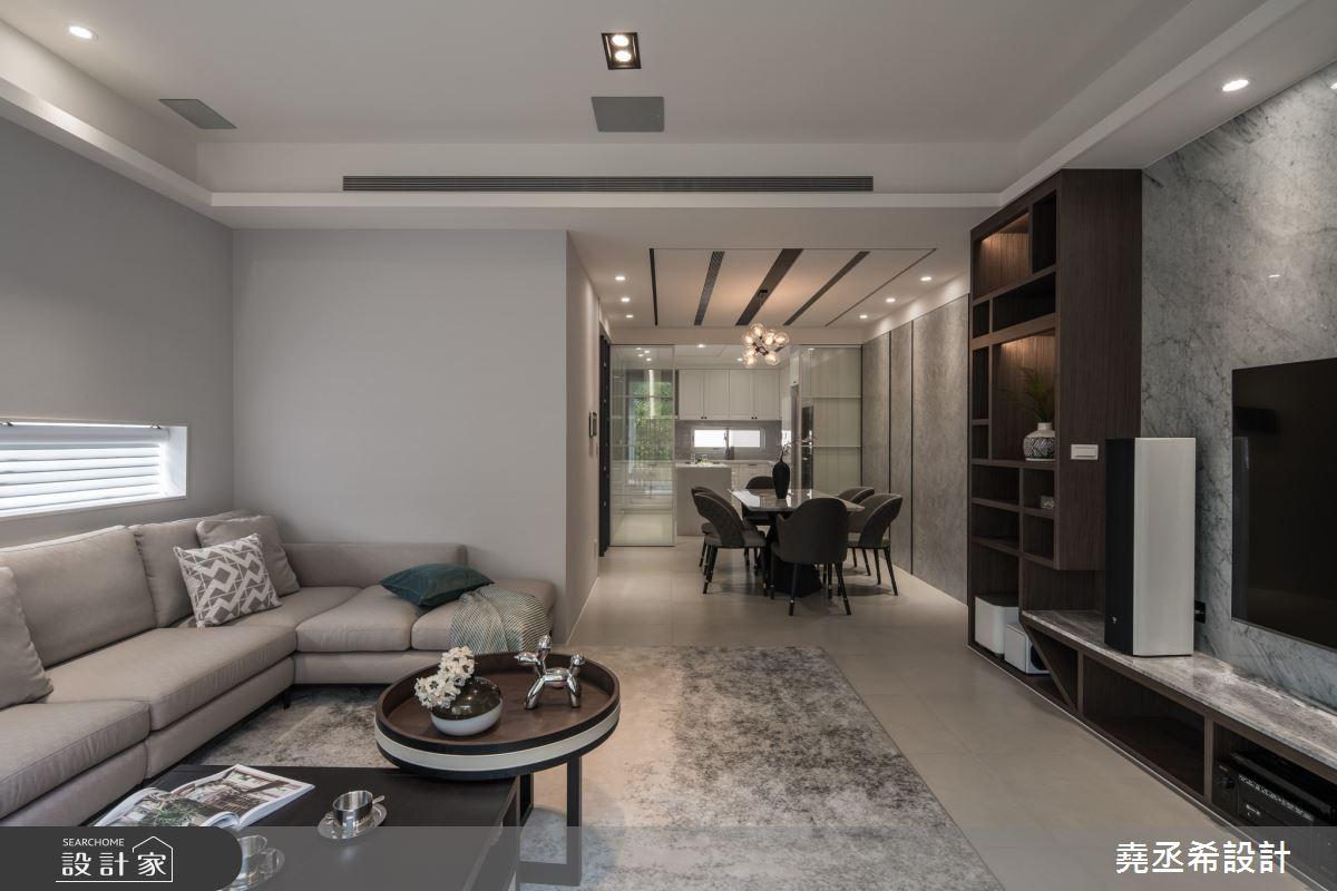 80坪新成屋(5年以下)_現代風客廳案例圖片_堯丞希設計_堯丞希_58之4