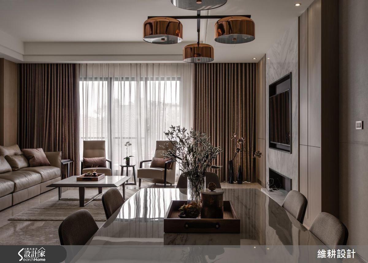 115坪新成屋(5年以下)_現代風餐廳案例圖片_維耕設計_維耕_02之2