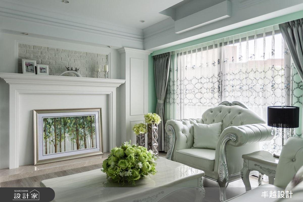 43坪新成屋(5年以下)_新古典客廳案例圖片_丰越設計_丰越_13之5