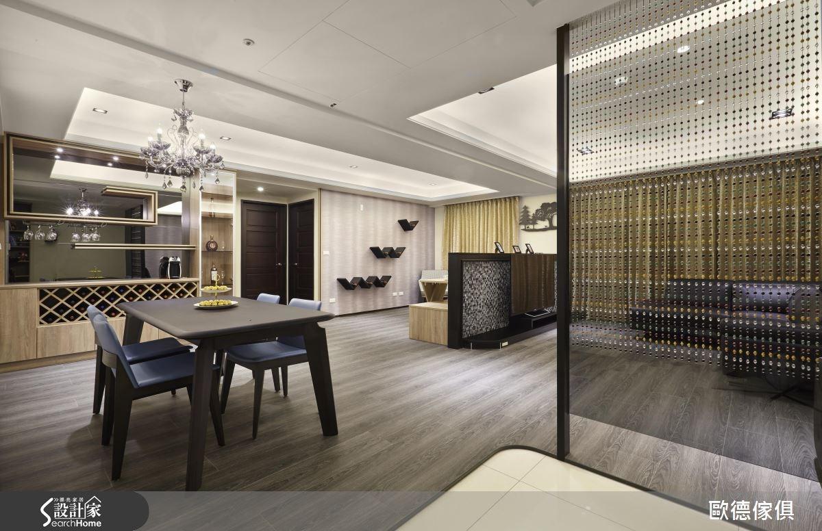 45坪新成屋(5年以下)_奢華風餐廳案例圖片_台灣歐德傢俱股份有限公司_歐德_11之4
